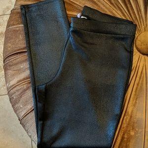 Faux leather dress pants stretch Large